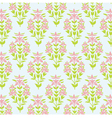 Seamless floral texture Background with lily vector image vector image