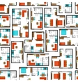 Seamless pattern with architectural projects of vector image