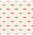 seamless pattern with color sun glasses vector image