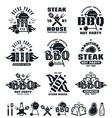 set barbecue labels badges and design elements vector image