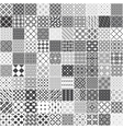Set of 100 monochrome seamless patterns vector image