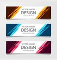 set of modern global business design banner vector image vector image