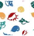 Shell seamless patter 1 vector image vector image