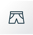 shorts outline symbol premium quality isolated vector image vector image