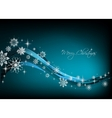 Snowflake blue Background vector image vector image