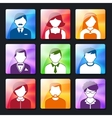 Social Avatar Icons Set vector image vector image