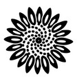 tattoo flower icon simple style vector image vector image