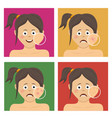 teenager girl with facial skin problems vector image