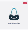 two color hobo shoulder bag icon from woman vector image vector image