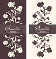 two floral invitation card vector image vector image