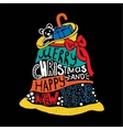 Typographic Christmas and New Year Santas Bag vector image