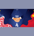 us and north korea banner handshake vector image vector image