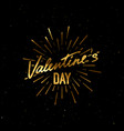 valentines day holiday label vector image