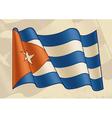 Vintage Cuban Flag vector image vector image