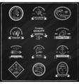 Vintage Seafood Badges Chalkboard vector image