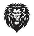 wild lion roaring logo mascot vector image vector image