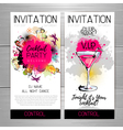 Cocktail party poster Invitation design vector image