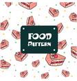 food pattern cake background image vector image