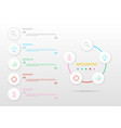 infographic workflow layout diagram vector image