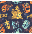 Seamless pattern with cinema icons vector image