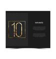 10th anniversary invitation card template vector image