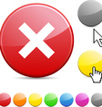 Abort glossy button vector image vector image