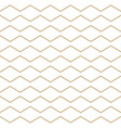 abstract white and gold zigzag lines pattern vector image
