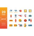airport icon set include creative elements