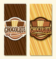 banners for chocolate vector image