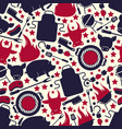 barbecue icons seamless pattern vector image