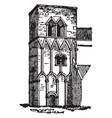 barton-on-humber church short work vintage vector image vector image