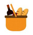 basket picnic icon vector image
