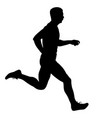 black silhouettes runners sprint men on white vector image vector image