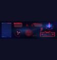 blue and red futuristic frame in modern hud vector image vector image