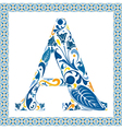 Blue letter A vector image vector image