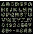 Camouflage alphabet vector image