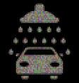 car shower halftone mosaic of circles vector image