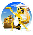cartoon bee eps 10 vector image vector image