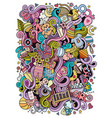 cartoon cute doodles hand drawn baby vector image vector image