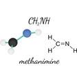 CH2NH methanimine molecule vector image vector image