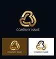 circle gold abstract company logo vector image