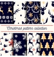 collection of seamless Merry Christmas vector image vector image