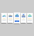 collection public transport onboarding vector image vector image