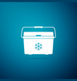 cooler bag icon isolated on blue background vector image vector image