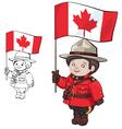 cute cartoon canadian Mounties vector image vector image