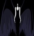 darkness girl vector image