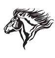 decorative portrait of pony vector image vector image