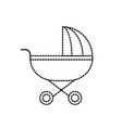 dotted shape baby stroller tool to baby relax vector image