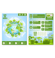 earth day brochure template with eco green city vector image vector image