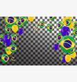 festival celebrated brazilian colorful vector image vector image